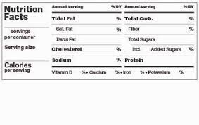 blank nutrition facts template available labels make your own nutrition facts labels