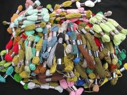 50s vintage crewel embroidery needlepoint yarn lot