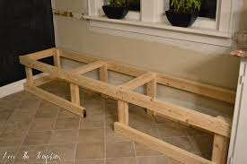 build a bench for dining table making a dining room table createfullcircle com