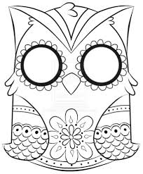 owl print out coloring pages coloring page