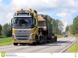 volvo fh 2016 price yellow volvo fh16 semi hauls oversize load editorial stock image