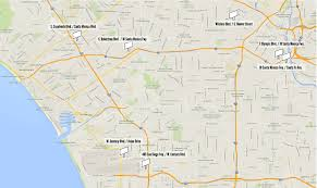 Map Of Beverly Hills Los Angeles by L A Poverty Billboards A