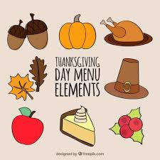 thanksgiving flat icons collection vector free