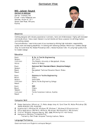 Resume Introduction Paragraph Examples by Resume Template Professional Curriculum Vitae Format Sample