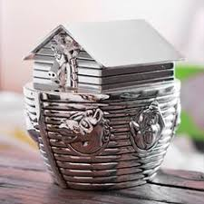 silver piggy bank for baby silver plated tipper truck money box piggy bank baby gift
