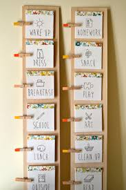 diy daily routine chart for kids child routine chart and daily