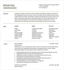 Fashion Retail Resume Examples Sample Designer Resume 10 Documents In Pdf Word Psd Vector