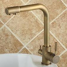 Antique Brass Kitchen Faucet Antique Brass Kitchen Faucet With Sprayer Snaphaven