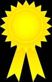 blue and gold ribbon achievement ribbon clipart 24