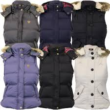 la s brave soul gilet womens bodywarmer hooded jacket padded