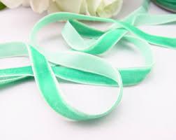 velvet ribbon by the yard mint velvet ribbon mint green velvet ribbon 3 8 velvet ribbon