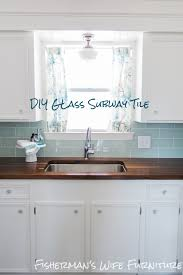 How To Install Glass Mosaic Tile Backsplash In Kitchen Diy Glass Tile Backsplash How To Cut And Install Glass Subway