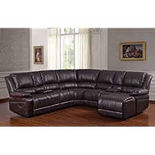 amazon com ufe robinson sectional sofa with recliner chaise