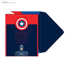 online invitation cards captain america kids birthday cards