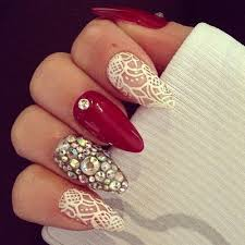 best 25 almond nails red ideas only on pinterest red nails