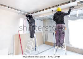 Suspended Drywall Ceiling by Drywall Installation Stock Images Royalty Free Images U0026 Vectors