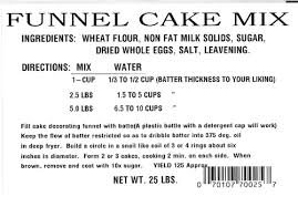 cake directions weisenberger funnel cake mix