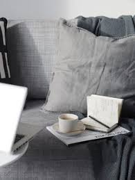 Grey Linen Cushions Corners Of My Home Grey Ikea Sofa And Linen Cushions Monochrome