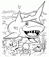 free printable shark coloring pages for kids for free printable