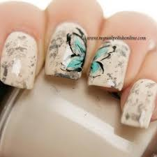 vintage butterfly nail design beauty pinterest butterfly