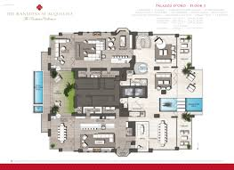 Floor Plan Of A Mansion by Mansions At Acqualina International Realty Group