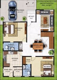 south facing house floor plans 20 x 60 west facing house plans