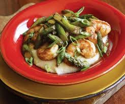 Homemade Comfort Food Recipes Shrimp And Asparagus With Cheddar Grits Finecooking