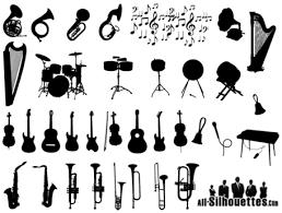 imagenes vectoriales gratis siluetas vectoriales gratis instrumentos musicales musica fiesta a