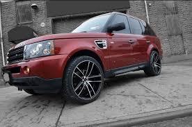 matte red range rover range rover sport gwg wheels
