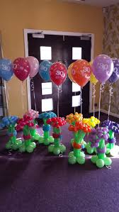 30th birthday flowers and balloons balloon flower bouquets for a 30th birthday party balloon bliss