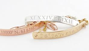 Custom Gold Bracelets Personalized Gold Latitude U0026 Longitude Bracelet Gold Custom
