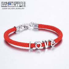 black bracelet charms images Blue sweet couple bracelets black red rope bracelets set for jpg