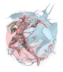 Warrior Of Light Red Warrior Of Light By Nick Ian On Deviantart