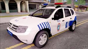 renault cars duster renault duster turkish police patrol car for gta san andreas