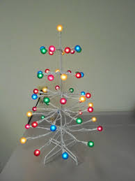 lighted white metal gumdrop tree christmas