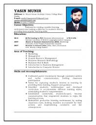 Graduate Application Resume Sample Resume For Teachers Applicant Us Letterhead Format With 19