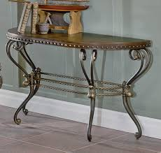 Wrought Iron Sofa Tables by Homelegance Copeland Half Moon Sofa Table W Metal Base Beyond
