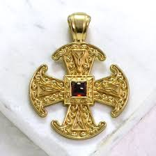 gold byzantine cross necklace images Canterbury cross anglo byzantine gold cross pendant jpg