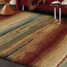 Stripe Area Rug Polypropylene Striped Shag Flokati Area Rugs Ebay
