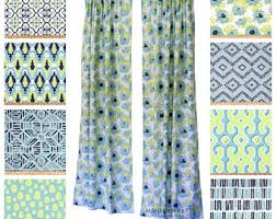 Vintage Green Curtains Aqua Curtains Etsy