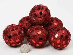 Vase Fillers Balls Red Mirrored Disco Balls Vase Fillers Table Scatters Floral