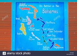 Map Bahamas Map Rogers Walk Nassau New Providence Island Bahamas Stock