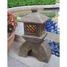 japanese lantern table l japanese stone garden lanterns wayfair