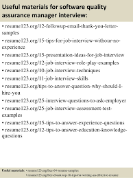 top 8 software quality assurance manager resume samples