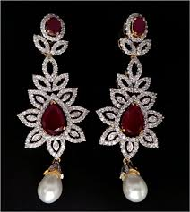earrings online india chandelier earrings online india 3 00 ct gold ruby gold everyday