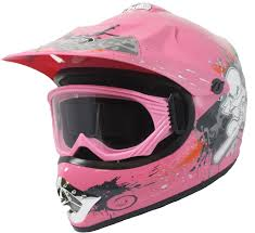 childs motocross helmet childrens kids motocross helmet u0026 goggles dirt bike quad bmx pink