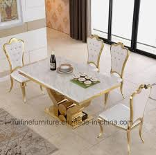 marble dining room sets china modern dining room furniture stainless steel gold marble