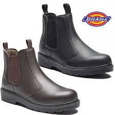 Light Work Boots Mens Dickies Dealer Lightweight Chelsea Steel Toe Cap Safety Boots
