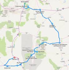 New Mexico Highway Map by Enchanted Eight