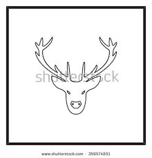 vintage deer label lettering retro vector stock vector 387719149